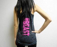 Tank BEAST. Beast Tank. Beast Shirt. Beast by StrongGirlClothing