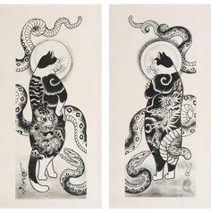 Le chat serpent par Kazuaki Horitomo Kitamura