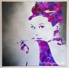 Audrey Hepburn Crayon Art