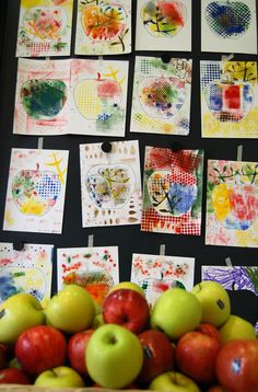 """""""Una mela al giorno"""", laboratorio Little Mart a cura di Annalisa Casagranda, mostra """"Progetto cibo"""", 17 marzo 2013 www.mart.trento.it/educazione"""