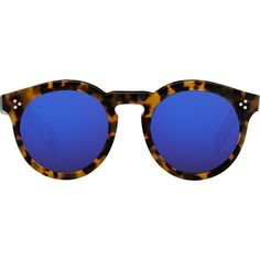 Illesteva Leonard II Sunglasses (€260) ❤ liked on Polyvore featuring accessories, eyewear, sunglasses, glasses, multi, round tortoise sunglasses, keyhole sunglasses, round sunglasses, round glasses and round lens sunglasses