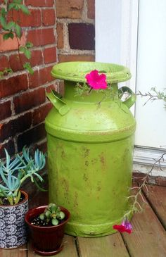 Antique Milk Can//dairy can//vintage metal by JunctionARow on Etsy, $45.00