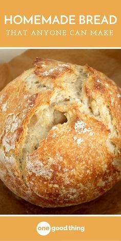 Baking can be tricky, but making a delicious loaf of homemade bread is actually easier than you'd think! Here's a simple recipe that anyone can make. bread recipes easy This Is The Easiest And Best Homemade Bread You'll Ever Make Easy Bread Recipes, Baking Recipes, Dessert Recipes, Desserts, Simple Bread Recipe, Italian Bread Recipes, Crusty Bread Recipe Quick, Artisan Bread Recipes, Simple Recipes