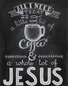 ...A little bit of #coffee & a whole lot of #JESUS! coffee bar