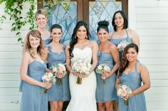 Great bridesmaid photo, love the dresses!