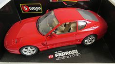 Burago 3046 1:18 #scale ferrari #456gt red 'diamond #collection' boxed superb,  View more on the LINK: 	http://www.zeppy.io/product/gb/2/111962412187/