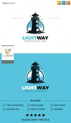 Lighthouse Logo Template PSD, Vector EPS, AI Illustrator. Download here: http://graphicriver.net/item/lighthouse-logo/16359385?ref=ksioks