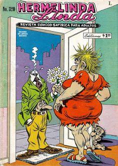 """Comics Mexicanos de Jediskater: Hermelinda Linda No. 320, """"Tiburcio vs Tiburcia"""", ... Comics Mexico, Popeye Cartoon, Creepy Comics, Funny Postcards, Art Jokes, Classic Comics, Sexy Cartoons, Vintage Magazines, Vintage Comics"""