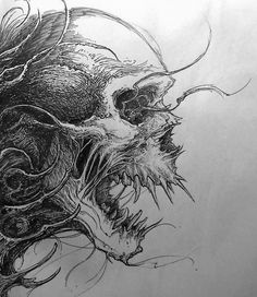 evil skull drawing ideas tattoo drawings on evil skull drawing - tattoo drawing ideas Scary Drawings, Dark Art Drawings, Art Drawings Sketches, Tattoo Drawings, Pencil Drawings, Drawing Faces, Skull Drawings, Drawing Drawing, Tattoo Art