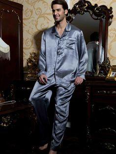 Classical Silk Pajama Set For Men