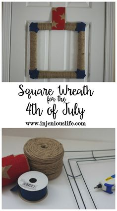 Square Wreath for th