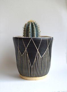 S T A L A C T I T E  || tribal stoneware planter by mbundy on Etsy https://www.etsy.com/listing/203777352/s-t-a-l-a-c-t-i-t-e-tribal-stoneware