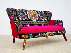 Suzani 2 seater sofa spring flowers by namedesignstudio on Etsy