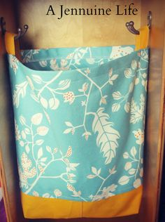 Use a favorite fabric to DIY a locker tote. | 23 Ways To Have The Coolest Locker In School