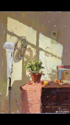 Anything can be beautiful when painted with sensitivity, even a humble fan. Paintings I Love, Beautiful Paintings, Collaborative Art Projects, Figure Painting, Painting Inspiration, Les Oeuvres, Illustration Art, Abstract, Interior Paint