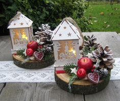 Когда фонари загораются. Wood Crafts, Diy And Crafts, Christmas Crafts, Christmas Decorations, Table Decorations, All Things Christmas, Holidays And Events, Centerpieces, Creative