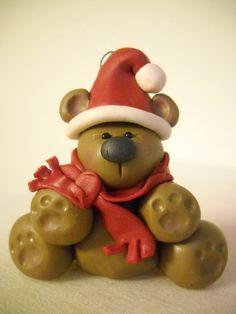 Polymer Clay Teddy Bear Ornament!!!