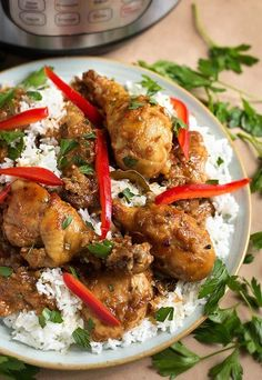 Instant Pot Chicken Adobo Filipino is a very flavorful dish made with dark meat chicken, soy sauce, and vinegar. Serve on Jasmine rice for an excellent meal