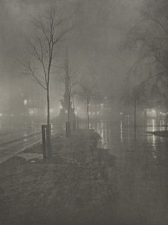 A Wet Night, Columbus Circle, New York, 1900