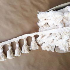5in Chunky Tassel Fringe-Natural Cotton, Fringe Market, Fringe Market Trims, Tassel Fringe, Passementerie, Trimmings, Natural Cotton, Natural Cotton Tassels, Tassels,