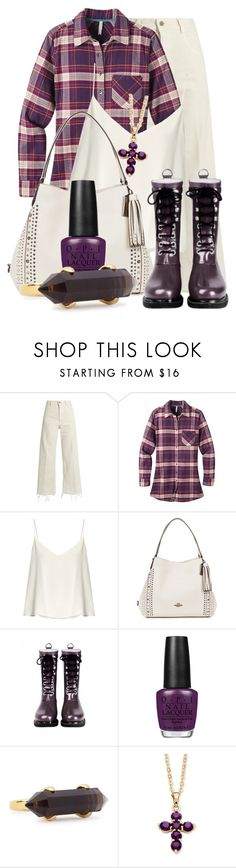 """Wellington Boots (2)"" by queenrachietemplateaddict ❤ liked on Polyvore featuring Rachel Comey, Mountain Khakis, Raey, Coach, Ilse Jacobsen Hornbaek, OPI, Lola Rose and Palm Beach Jewelry"