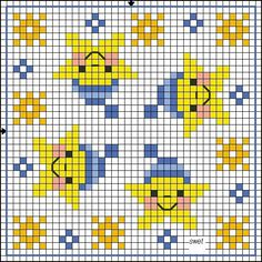 no color chart available, just use pattern chart as your color guide. or choose your own colors. Biscornu Cross Stitch, Cat Cross Stitches, Cross Stitch Baby, Cross Stitch Charts, Cross Stitch Designs, Cross Stitching, Cross Stitch Embroidery, Cross Stitch Patterns, Bobble Stitch