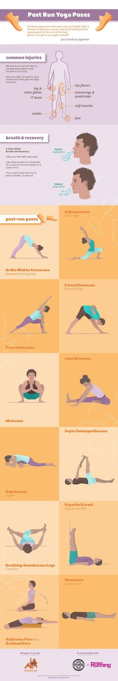 Make sure you do these essential yoga poses after your run today!