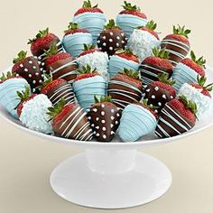 Two Full Dozen Hand-Dipped Baby Boy Strawberries
