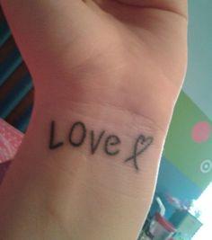 My newest tattoo :) Love tattoo!