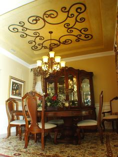 Faux Iron Ceiling Medallion | Gabriele Design Faux Iron Ceiling Accent.  Gabriele Is An Open, Light And Airy Design That Is Easy To Install Around  Any ...
