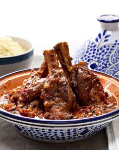 Moroccan cuisine is known for its full flavor and complex aromatics. Make these Moroccan braised lamb shanks in a tajine or 8-quart Lodge pot. (Photo by Jennifer Silverberg)