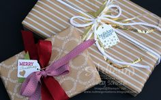 Easy wrapping ideas with Festive Designer Kraft Rolls ~ Cindy Schuster