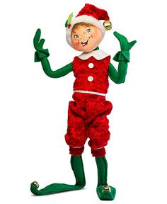 Annalee Collectible Figurine, Red Snowflake Elf - Holiday Lane - Macy's