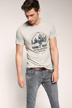 Esprit - Jersey Print-T-Shirt aus Baumwoll-Mix im Online Shop kaufen