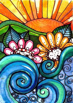Tropical Garden by Robin Mead