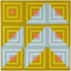 Summit designed by Heather Jones for Robert Kaufman Fabrics. Features #KonaCotton. FREE pattern will be available to download from robertkaufman.com in September 2015. #FREEatrobertkaufmandotcom
