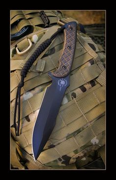 Spartan Blades Horkos Fixed Blade Fighting Utility Knife Kydex Sheath