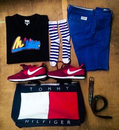 Tshirt #M'sieur. Short #Abercombie. Shoes #Nike . Sac cabas #TommyHilfiger