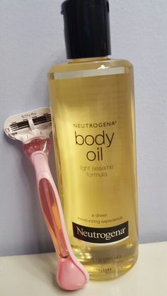 Use the neutrogena body oil as a replacement for your shaving cream!