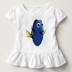 Dory | Finding Dory. Baby, bebé. Producto disponible en tienda Zazzle. Vestuario, moda. Product available in Zazzle store. Fashion wardrobe. Regalos, Gifts. Link to product: http://www.zazzle.com/dory_finding_dory_t_shirt-235914878586013311?CMPN=shareicon&lang=en&social=true&rf=238167879144476949 #camiseta #tshirt