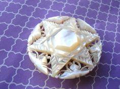 Vintage Mother of Pearl Star Brooch by 2VintageGypsies on Etsy, $8.00