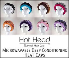 Hot head microwavable deep conditioning heat caps
