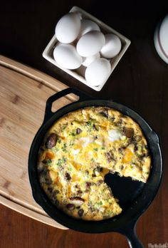 Cheesy Potato Frittata by passthesushi #Frittata