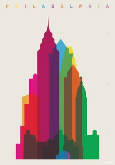 Shapes of Philadelphia art print by DesignedbyYoni on Etsy, £25.00