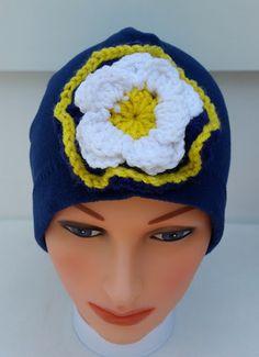 Blue Fleece Beanie, Beanies For Women, Womens Winter Beanies, Ladies Beanie Hats, Womens Fleece Hats, Ladies Fleece Hats, Ladies Winter Hats by StephFleeceDesigns on Etsy