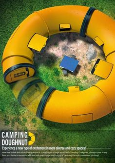 who doesn't love a camping donut
