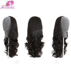 Online Shop Hair Extension Half Wig Virgin Brazilian 3 4 Human Hair Half  Wigs Wavy 7A No Lace Wig For Black Women Customized Human Hair Wigs b3e80901f3