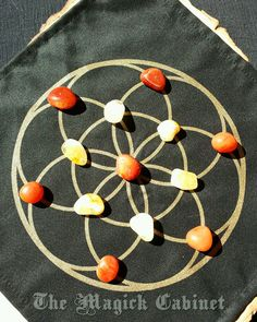 NEW Cotton Crystal Grid Mats, Seed of Life Crystal Grid, Crystal grids, Sacred Geometry Grids