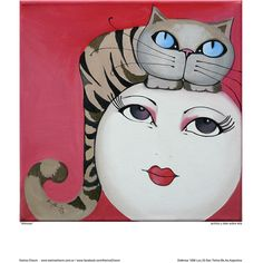 Mimosa - Comprar en Karina Chavin Espacio de Arte Moon Balloon, Cat Character, Sad Eyes, Good Night Moon, Eye Art, Woman Painting, Portrait Art, Art Forms, Fiber Art