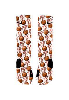 Custom Emoji Basketball Socks Custom Nike Elite by NikkisNameGifts